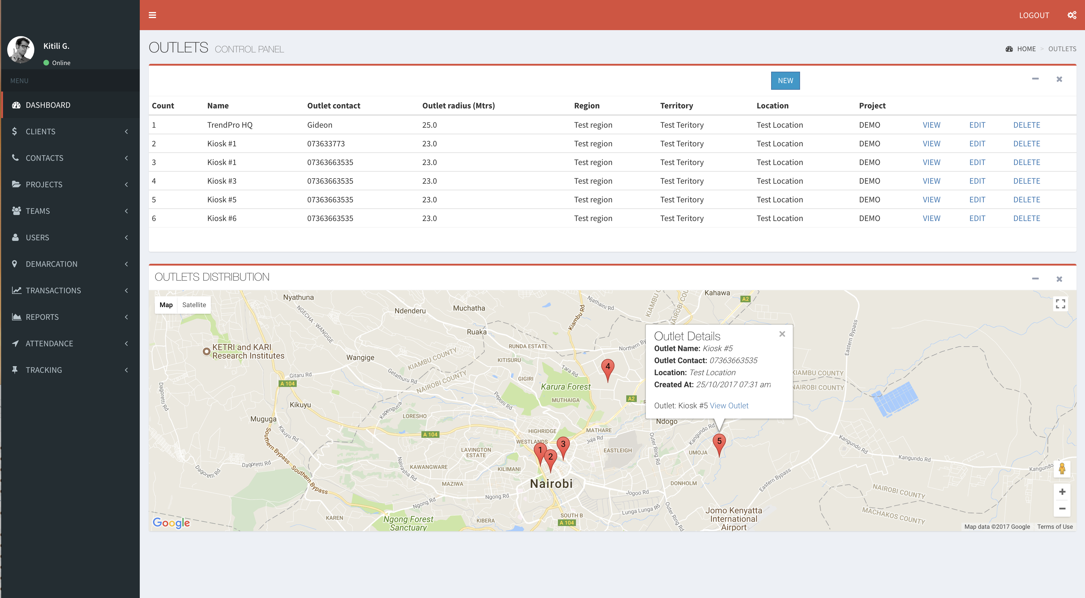 SaapCRM as a Geospatial Data Collection Tool